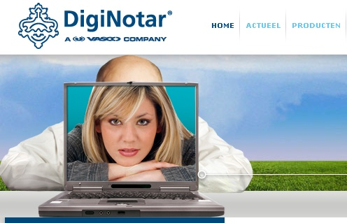 DigitNotar website screen shot